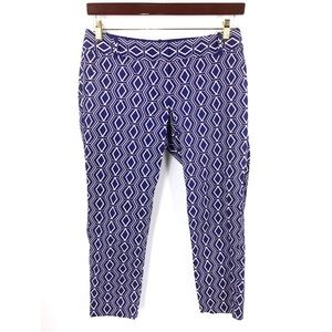 The Limited Drew Fit Cropped Pants Sz 6 Blue White